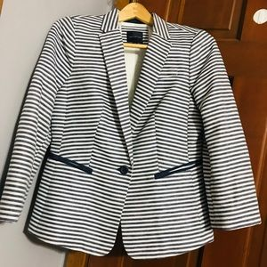 The Limited Navy Striped Blazer
